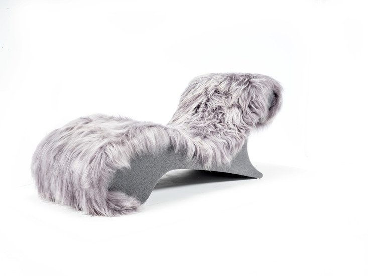 The blizzard eclectic ergonomic chaise in icelandic long haired sheepskin rhubarbchairs treniq 1 1545142073890