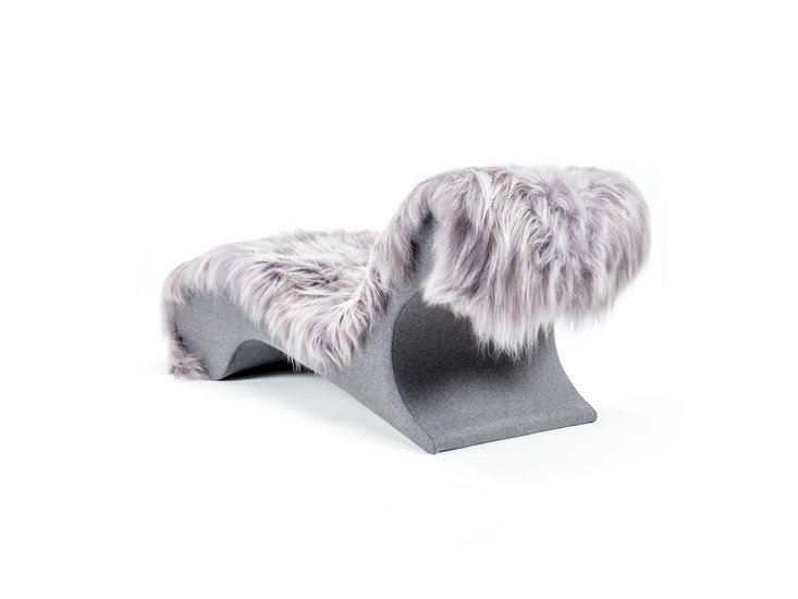 The blizzard eclectic ergonomic chaise in icelandic long haired sheepskin rhubarbchairs treniq 1 1545142090458
