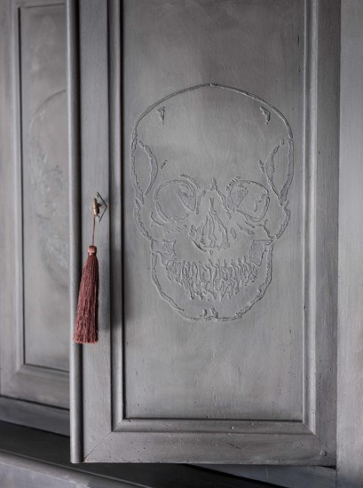 The skull ghost cupboard  antique french elm housekeepers cupboard  rhubarbchairs treniq 1 1545142731981