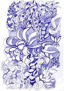Blue-Doodle-Iii_Paola-De-Giovanni_Treniq_0