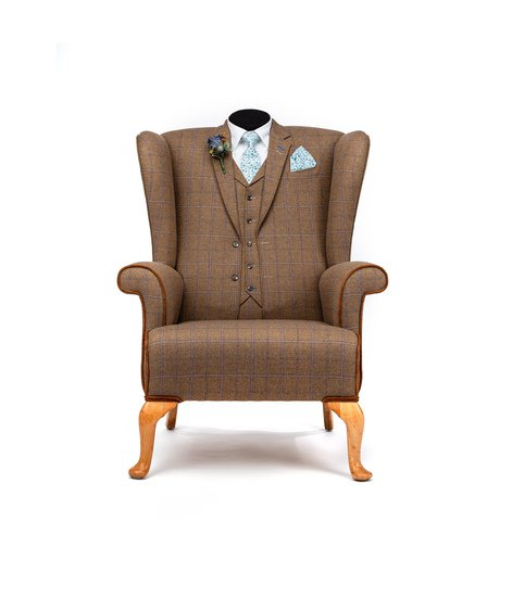The country gent tweed wing chair. rhubarbchairs treniq 1 1545418345329
