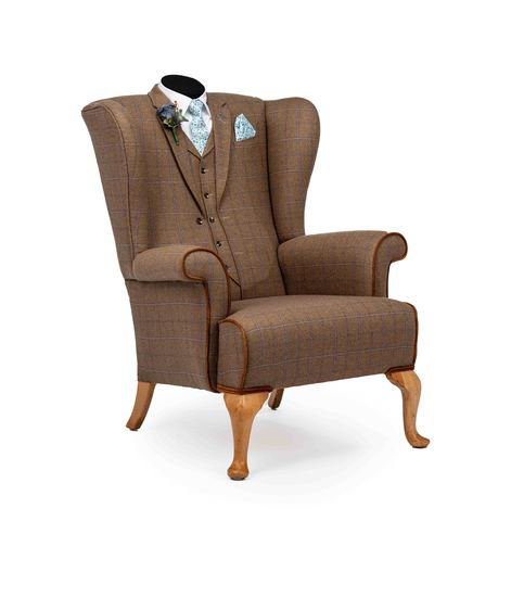 The country gent tweed wing chair. rhubarbchairs treniq 1 1545418339484