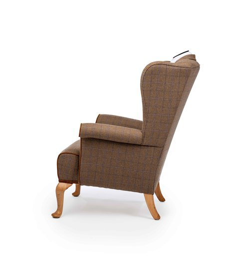 The country gent tweed wing chair. rhubarbchairs treniq 1 1545418357790