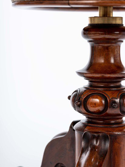 The gold 'h.r.h' monogrammed victorian piano stool. rhubarbchairs treniq 1 1545419376776