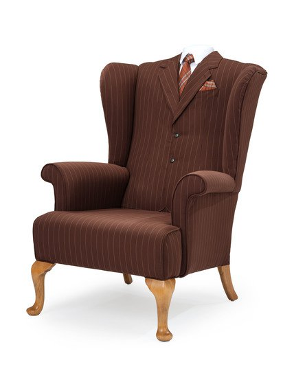 The suit wing chair. rhubarbchairs treniq 1 1545420477250