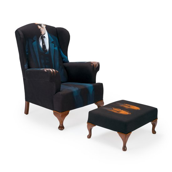 The gentlemen artist wing chair   stool.  rhubarbchairs treniq 1 1545421056727