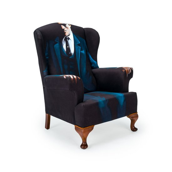 The gentlemen artist wing chair   stool.  rhubarbchairs treniq 1 1545421066426