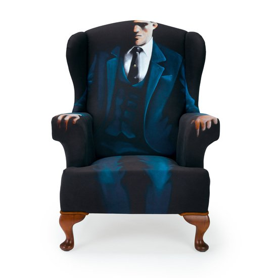 The gentlemen artist wing chair   stool.  rhubarbchairs treniq 1 1545421070748