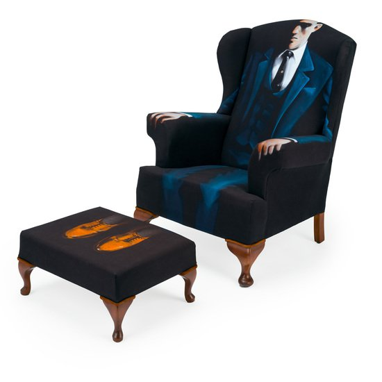 The gentlemen artist wing chair   stool.  rhubarbchairs treniq 1 1545421075527