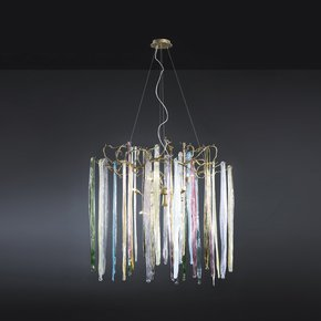 Waterfall Suspension Lamp Colored Glass - Serip - Treniq