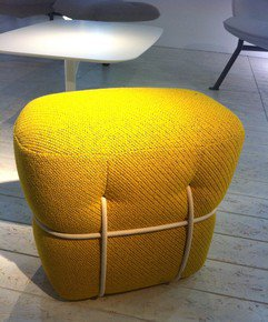 Lace  Large Foot Stool Yellow