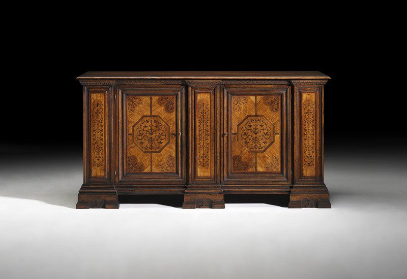 La Credenza In English : Sideboard art 848 brown wood antique and vintage english or
