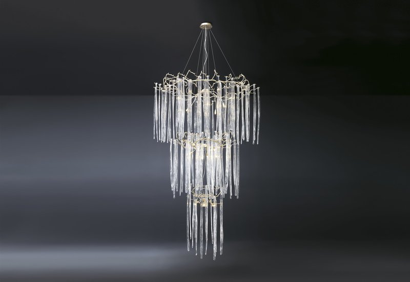 Waterfall suspension lamp clear glass serip treniq 1