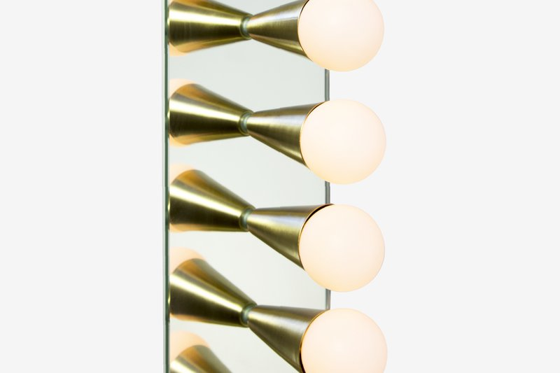 Echo 6 sconce souda brass 6