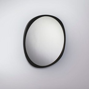 Fade Mirror - Black Frame - Clear Mirror