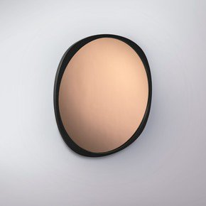 Fade Mirror - Black Frame - Peach Mirror