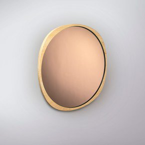 Fade Mirror - Natural Ash Frame - Peach Mirror