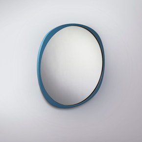 Fade Mirror - Petrol Blue Frame - Clear Mirror