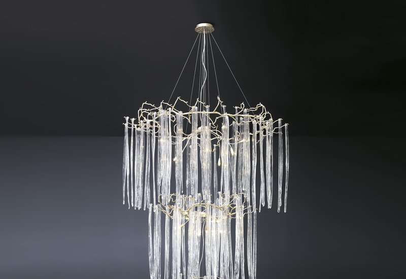 Waterfall suspension lamp clear glass serip treniq 2