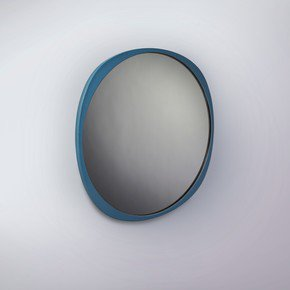 Fade Mirror - Petrol Blue Frame - Smoke Mirror