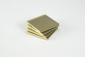 Fin Coasters - Gold - Set of 4