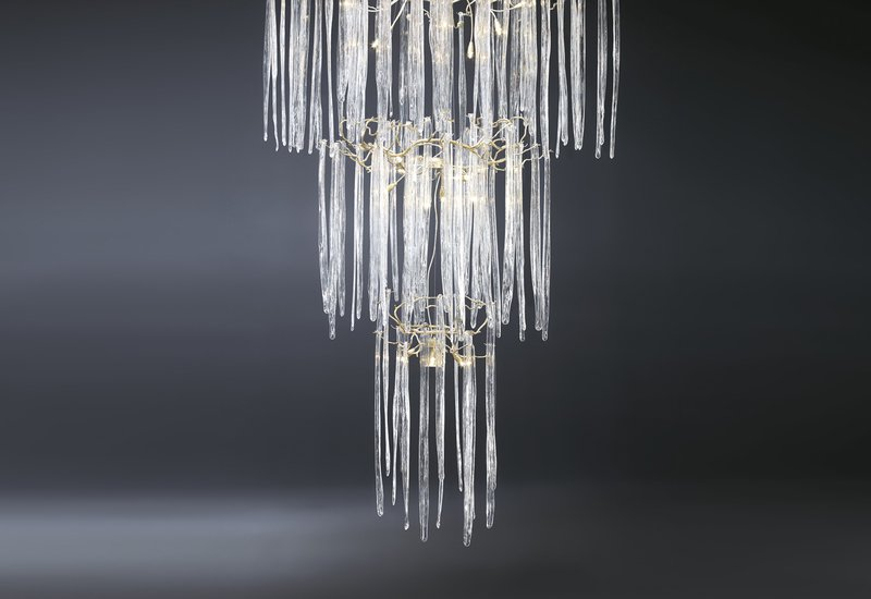 Waterfall suspension lamp clear glass serip treniq 3