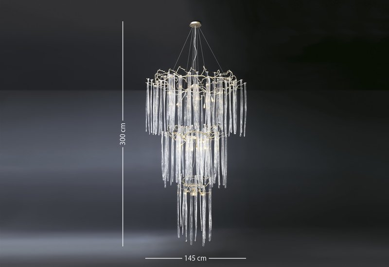 Waterfall suspension lamp clear glass serip treniq 4
