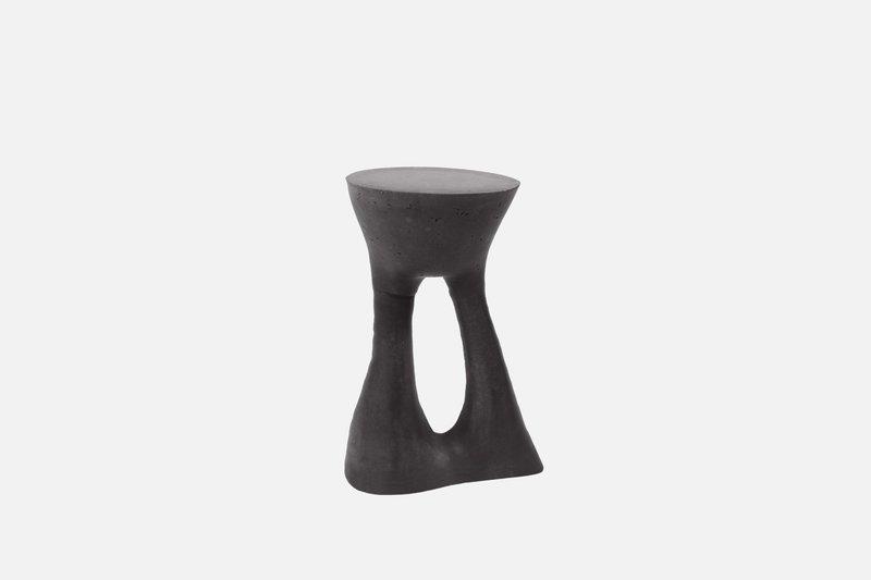 Kreten side table tall charcoal isaacfriedmanheiman for souda 1