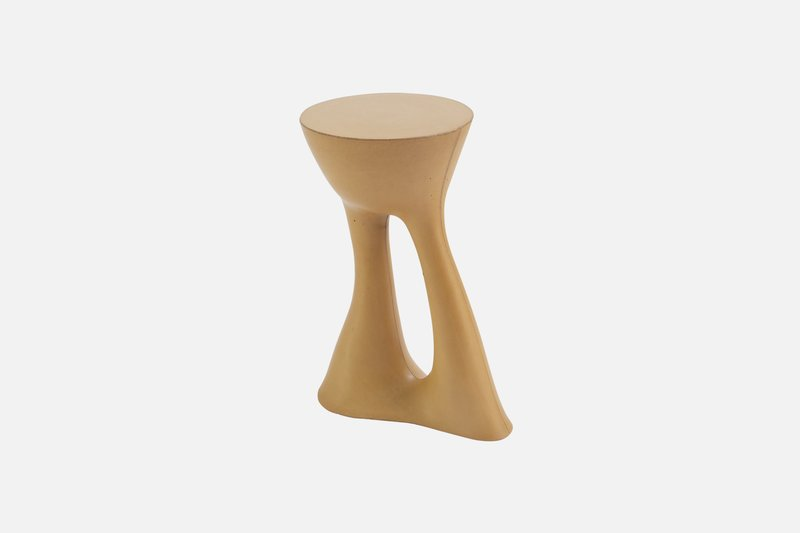 Kreten side table souda mustard modern concrete 9