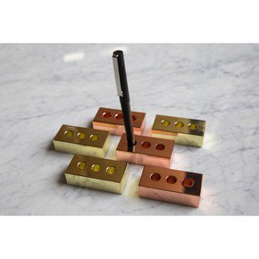 Pen Brick - Brass - Set of 3