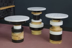 Set of 3 One of each base, 1 16 & 2 14 Black Marble Tops
