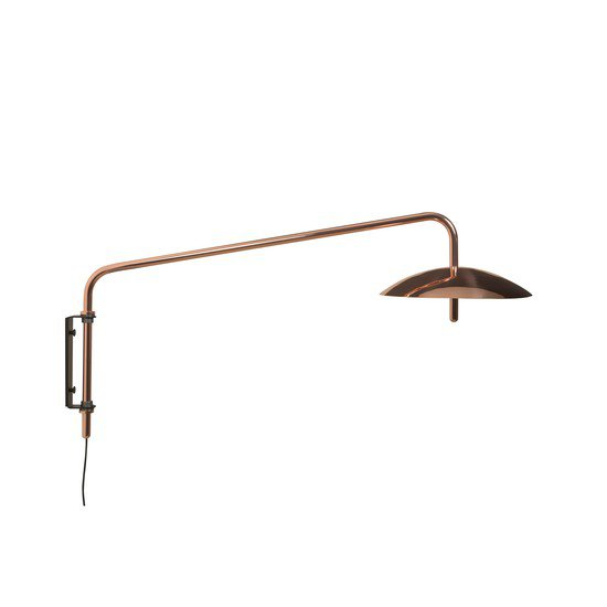 4 copper signal contemporary swing arm sconce