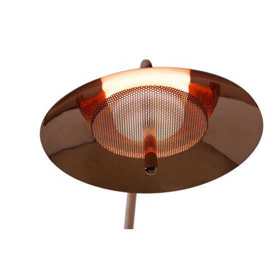2 copper signal contemporary arm sconce