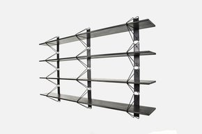 Strut Shelving - Black  84 Ash Painted Black