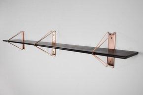Strut Shelving - Copper  52 Ash Painted Black