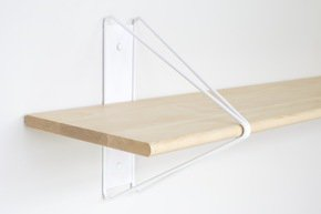 Strut Shelving - White  52 Natural Maple