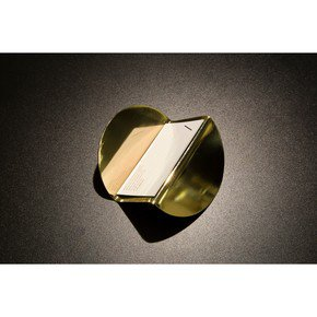 Wave Business Card Holder - Brass