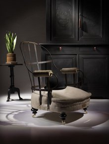 The-Eclectic-Victorian-Iron-Back-Chair._Rhubarb-Chairs_Treniq_0