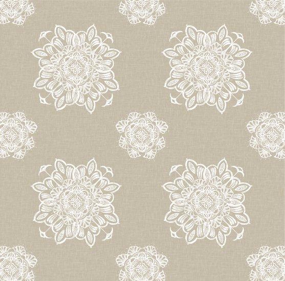 Venezia grande reverse bianca on taupe wallpaper  ailanto design by amanda ferragamo treniq 1 1548043355070