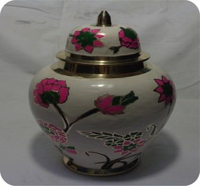 Floral Brass Pot