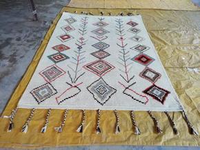 Husaini's Hand Knotted White Morrocan Carpet