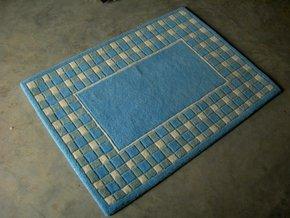 Husaini's Hand Tuffed Blue Carpets