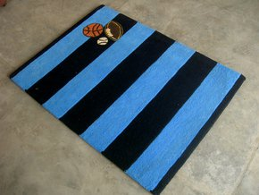 Husaini's Hand Tufted Black Blue Carpets