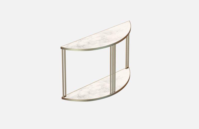 Roma console brass with white marble miist treniq 1 1549266166445