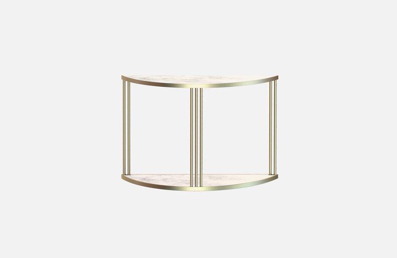Roma console brass with white marble miist treniq 1 1549266166446