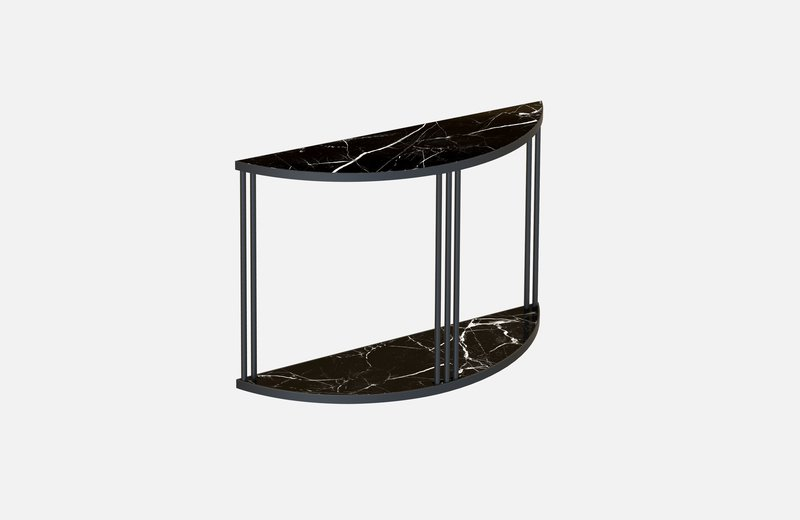 Roma console black with black marble miist treniq 1 1549266944241