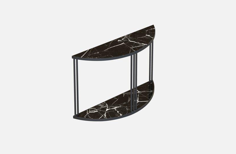 Roma console black with black marble miist treniq 1 1549266944243