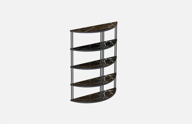 Roma bookcase black with black marble miist treniq 1 1549267826362