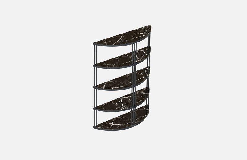 Roma bookcase black with black marble miist treniq 1 1549267826363