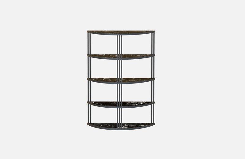 Roma bookcase black with black marble miist treniq 1 1549267826364